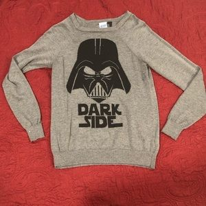 Dark Vader Star Wars sweater with some paint stain
